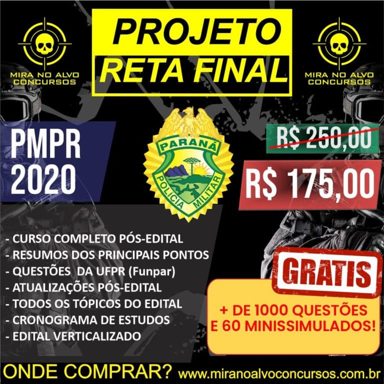 Projeto Reta Final PM-PR 2020 (PÓS-EDITAL) 1