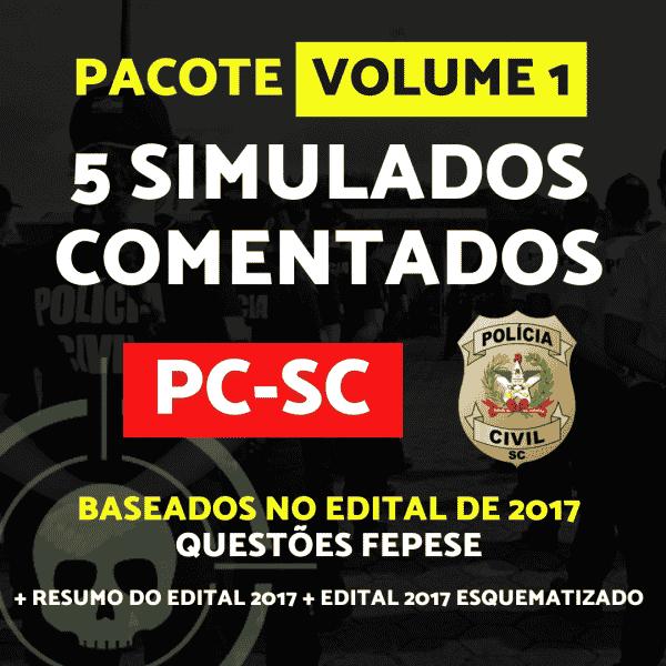 5 Simulados - PCSC - Agente 1